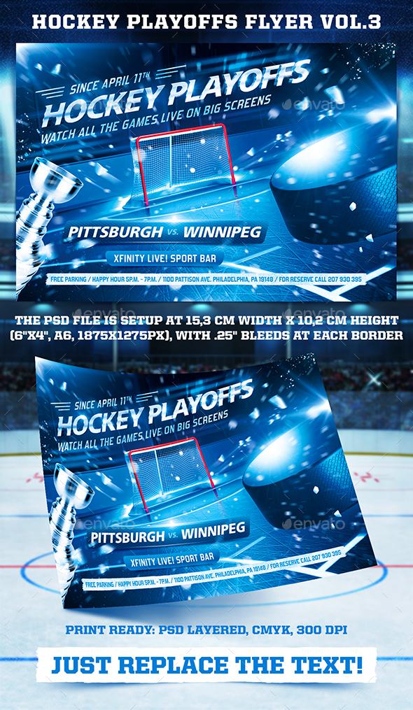 Hockey Playoffs Flyer Template vol.3 - Sports Events