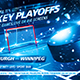 Hockey Playoffs Flyer Template vol.3 - GraphicRiver Item for Sale