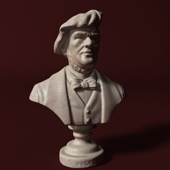 Wagner Bust - 3DOcean Item for Sale