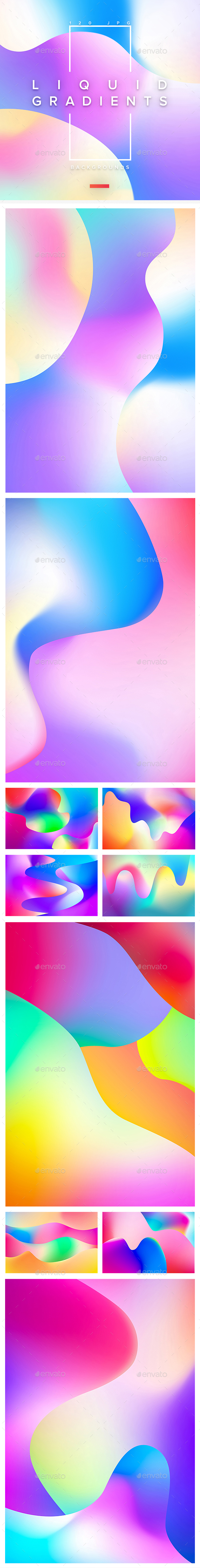 120 Liquid Gradients Backgrounds - Abstract Backgrounds
