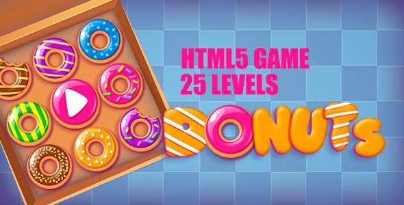 Donuts HTML5 Game [ 25 levels ] - CodeCanyon Item for Sale