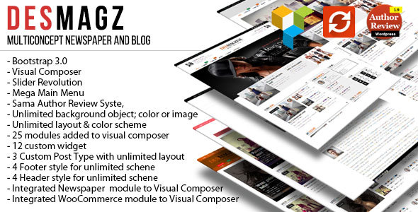 DesMagz - WordPress Multiconcept Magazine Theme - Blog / Magazine WordPress