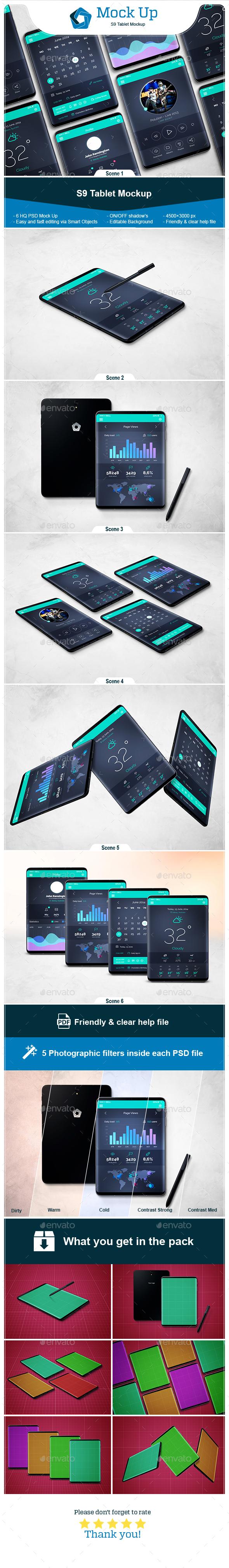 S9 Tablet Mockup - Mobile Displays