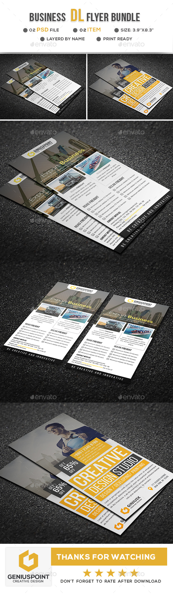 Business Dl Flyer Bundle - Corporate Flyers