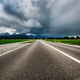 Road leading into a storm - Forggensee and Schwangau, Germany Ba - PhotoDune Item for Sale
