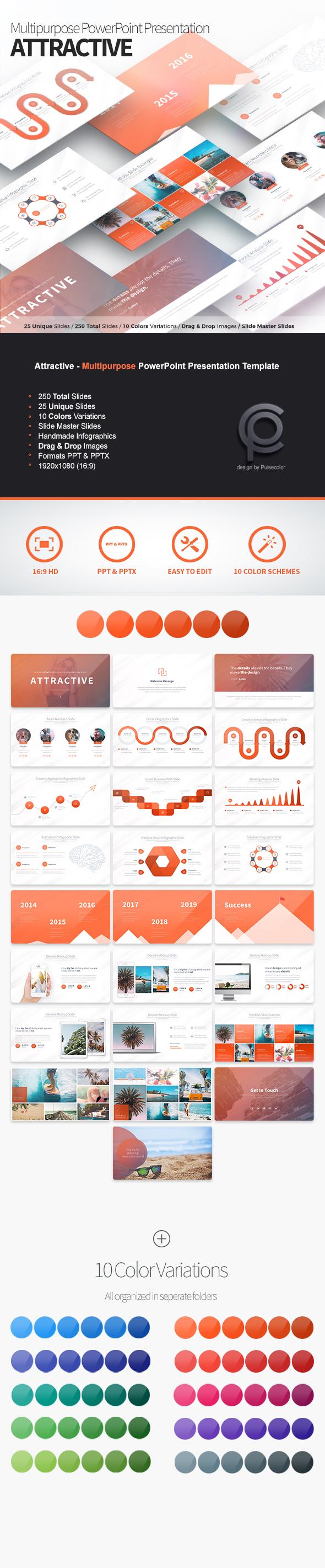 Attractive – Multipurpose PowerPoint Presentation - Business PowerPoint Templates