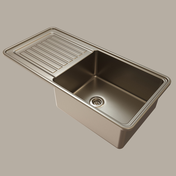 stainless steel kitchen sink - 3DOcean Item for Sale