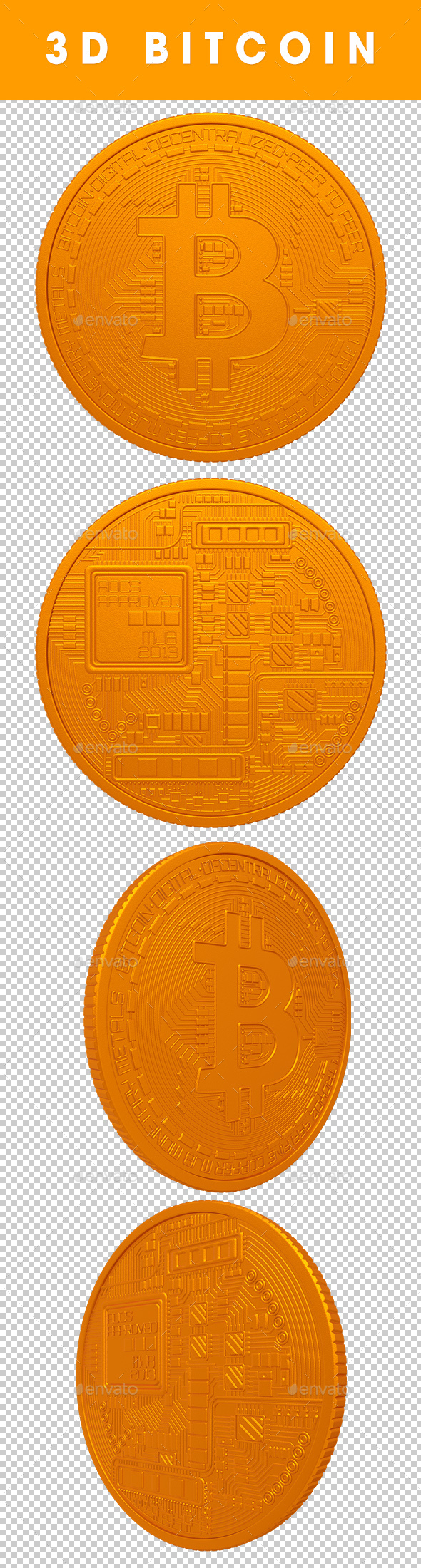 3D Bitcoin Renders - 3D Renders Graphics