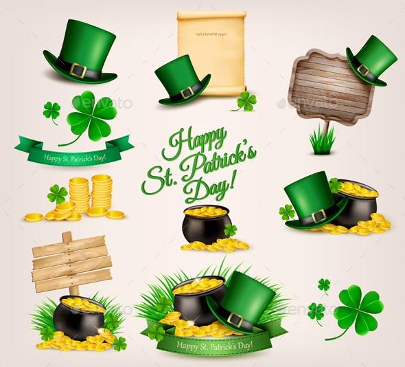Set of St. Patrick's Day Related Icons - Miscellaneous Seasons/Holidays