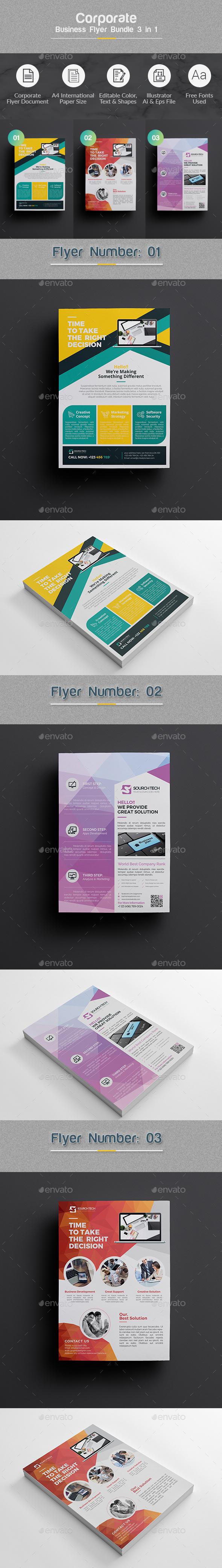 Flyer Bundle 3 in 1 - Corporate Flyers