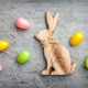 Easter holiday bunny on a rustic background - PhotoDune Item for Sale