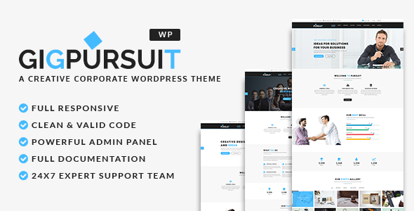 GigPursuit - Business & Corporate WordPress Theme