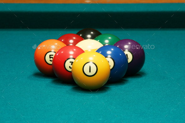 Nine ball rack - Stock Photo - Images