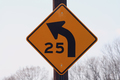 25 mph curve sign - PhotoDune Item for Sale