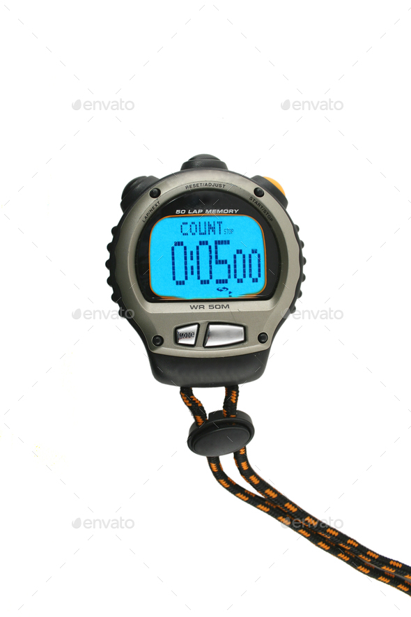 Lighted Stop Watch - Stock Photo - Images