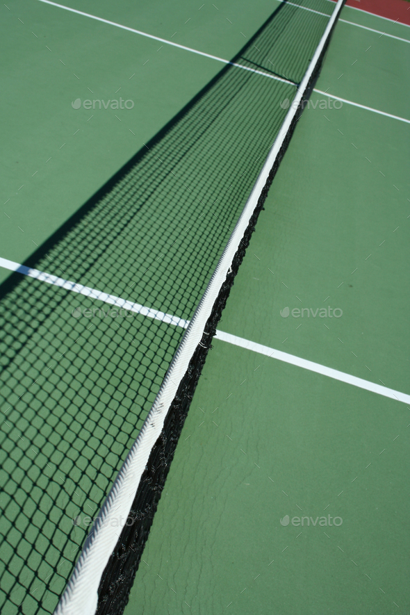 Tennis court net - Stock Photo - Images