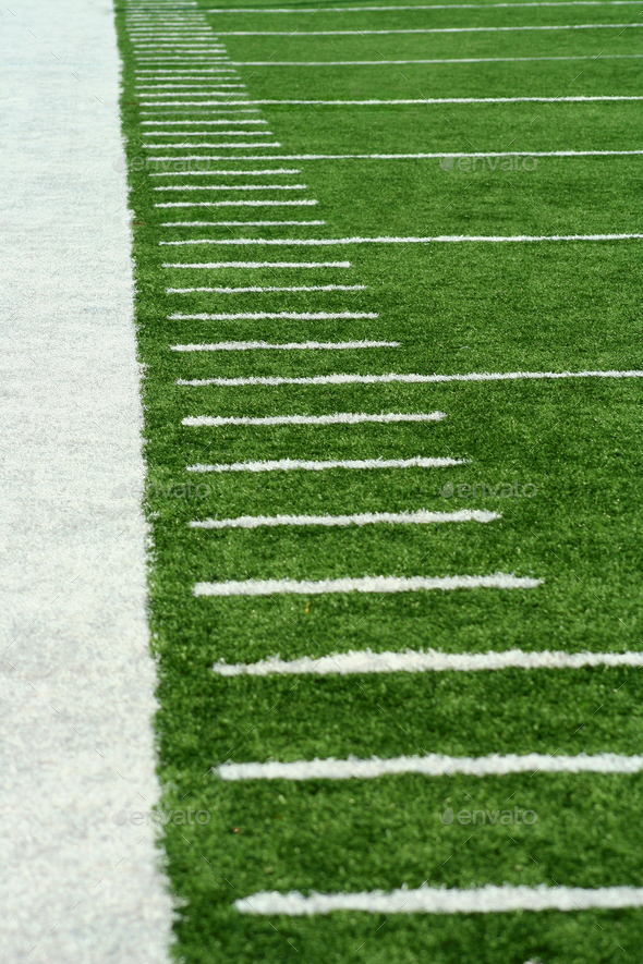 Football Yard Markers - Stock Photo - Images