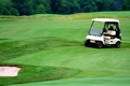 Golf cart on golf course - PhotoDune Item for Sale