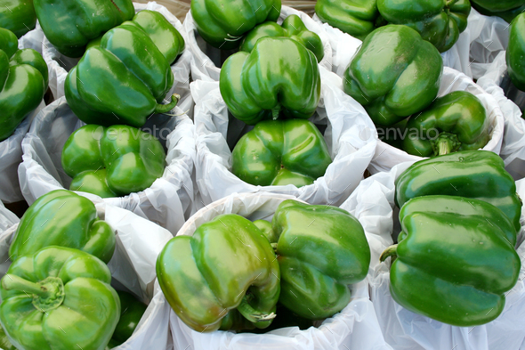 Green Bell Peppers - Stock Photo - Images