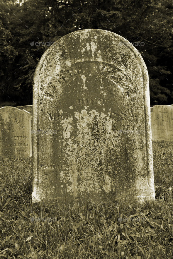 Old Gravestone - Stock Photo - Images