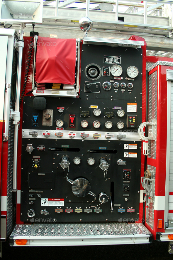 Fire Truck controls - Stock Photo - Images