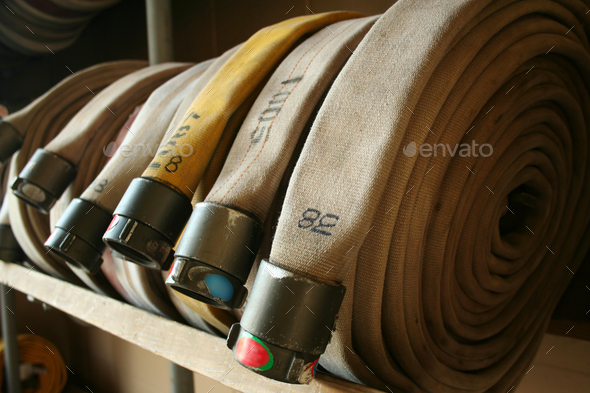 Fire Hoses - Stock Photo - Images