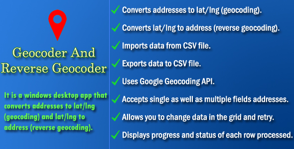 Geocoder and Reverse Geocoder - CodeCanyon Item for Sale