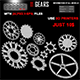 11 Gears 3D Model With (AI, PSD) Files FULL