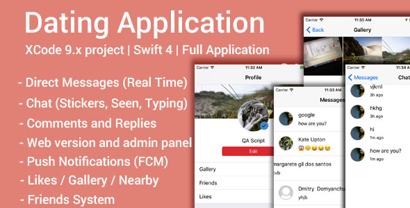 Dating App (iOS App and Website) - Swift 4 - CodeCanyon Item for Sale