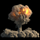 Huge Nuclear Explosion on Black - VideoHive Item for Sale