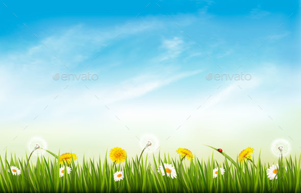 Spring Nature Landscape Background - Seasons Nature