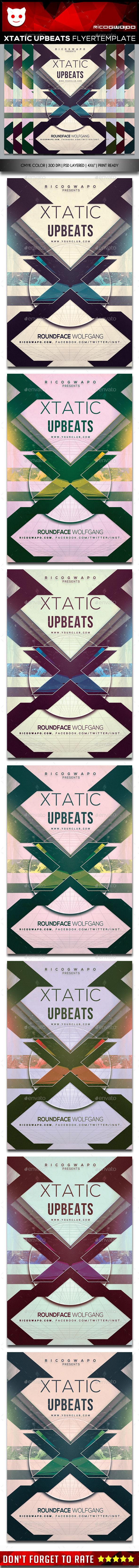 Xtatic Upbeat Flyer Template - Flyers Print Templates