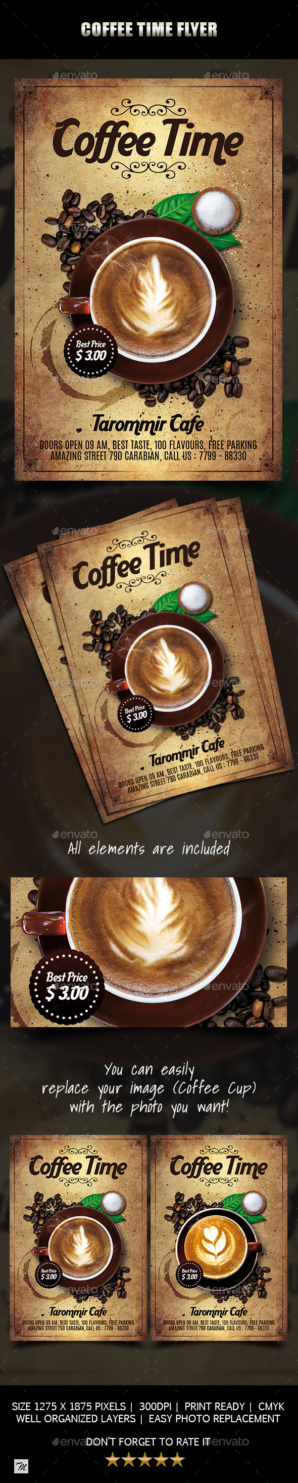 Coffee Time Flyer - Restaurant Flyers