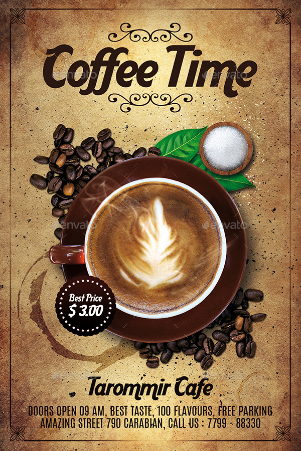 coffee time flyer by tarommir