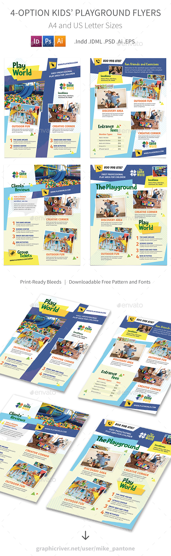 Kids' Playground Flyers – 4 Options - Corporate Flyers