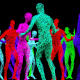 Dancing Splines Groupe Of People - VideoHive Item for Sale