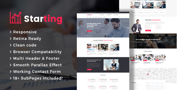 Starting - Business Consulting and Professional Services HTML Template