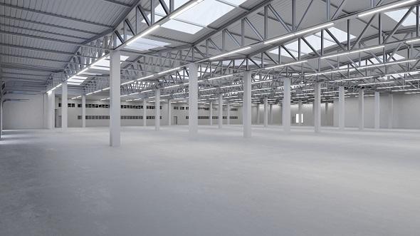 Industrial Building Interior 2 - 3DOcean Item for Sale