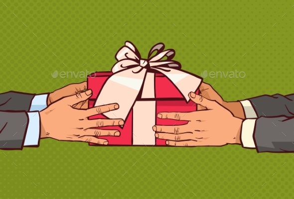 Hands Giving Gift to Another - Miscellaneous Conceptual