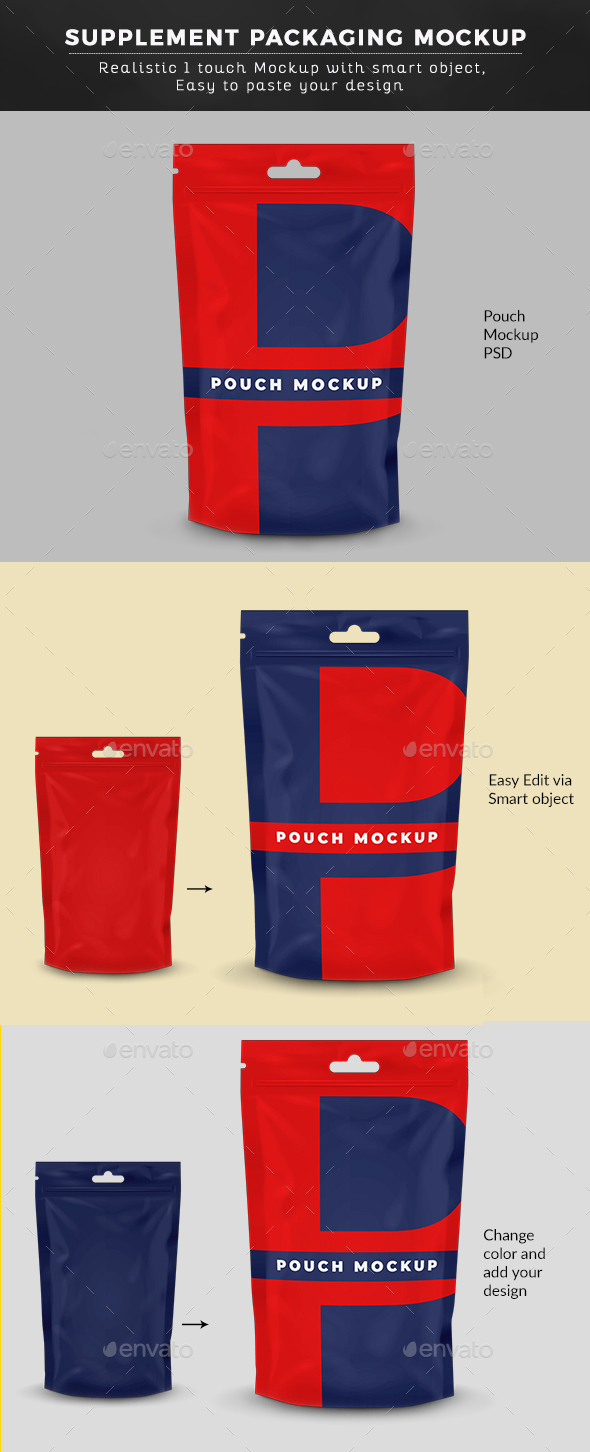 Doypack Pouch Mockup - Graphics