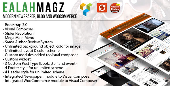 EalahMagz – Modern Magazine Theme Free Download