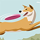 Dog Catching Frisbee - GraphicRiver Item for Sale