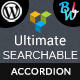 Ultimate Searchable Accordion - Visual Composer Addon