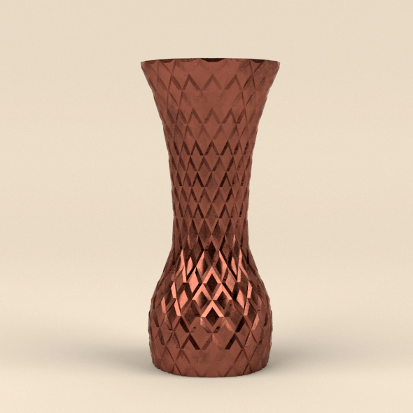 Copper vase - 3DOcean Item for Sale