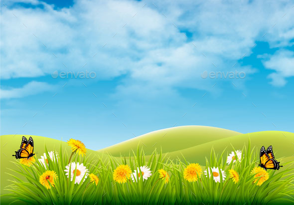 Spring Easter Background - Seasons Nature
