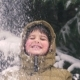 the Boy Rejoices at the Snow Falling on Him - VideoHive Item for Sale