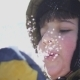 Boy Blows Snow From the Palms of His Hands - VideoHive Item for Sale