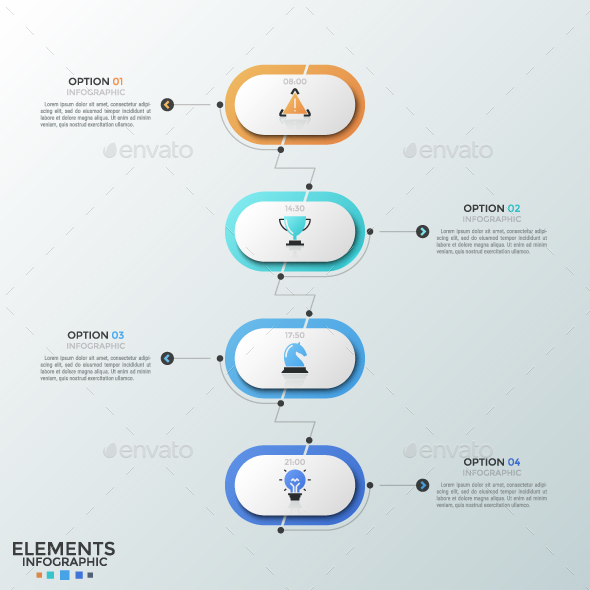 Modern Zig-Zag Timeline Infographic - Infographics