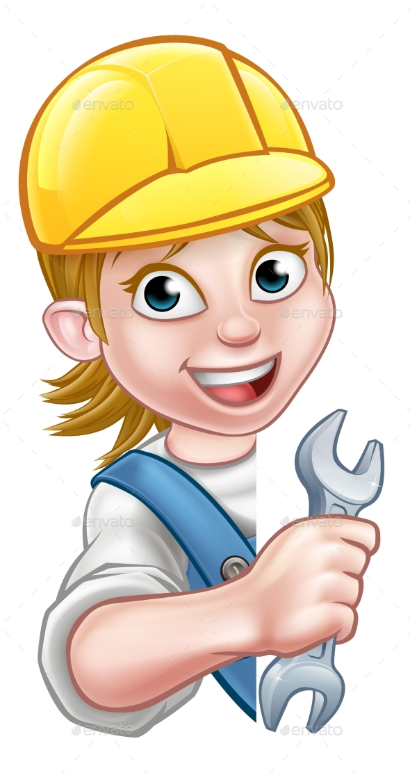 Cartoon Character Plumber Woman - People Characters