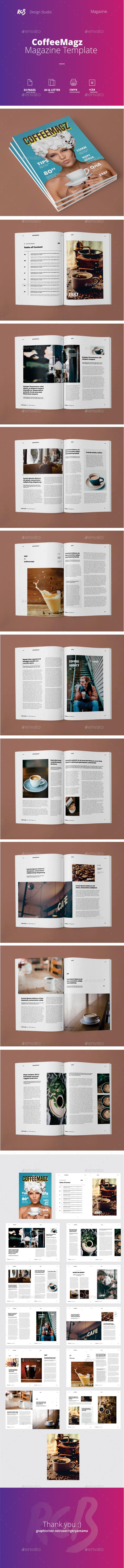 CoffeeMagz Magazine Template - Magazines Print Templates